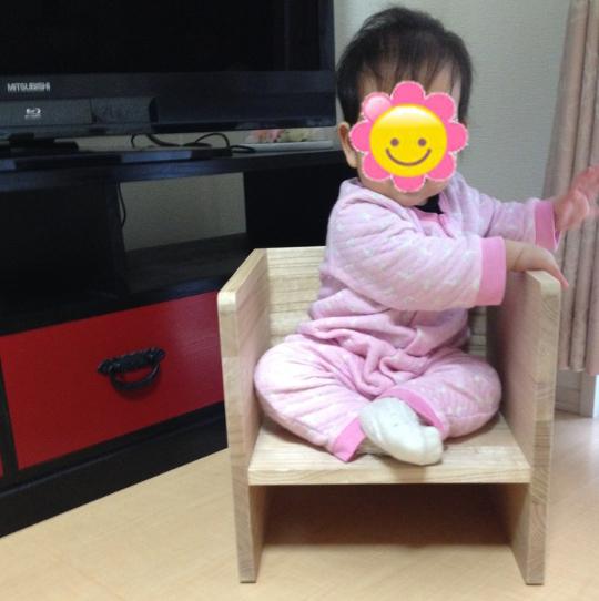 CHOCON(チョコン) 桐の子供いす