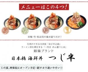 海鮮丼 つじ半 神楽坂店