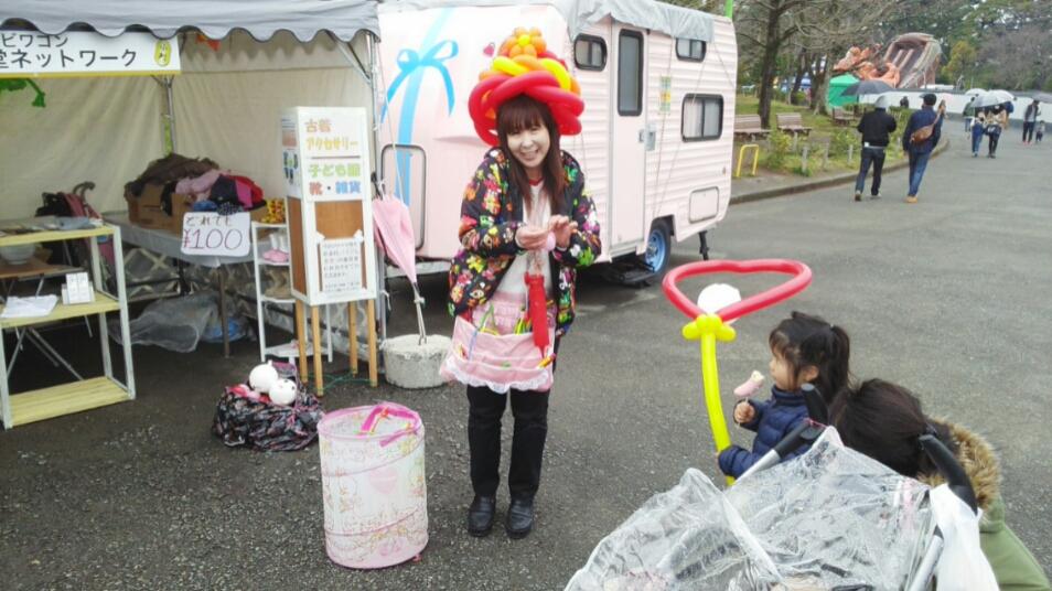 静岡まつり2日目、ゆっぴーさんとバンビワゴン&静岡市子ども食堂ネットワーク