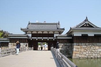 4/30 広島城 御門橋から表御門