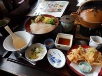 4/22 昼食 鯛めし定食  かごの屋