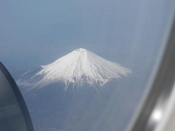 4/30 空から見えた富士山
