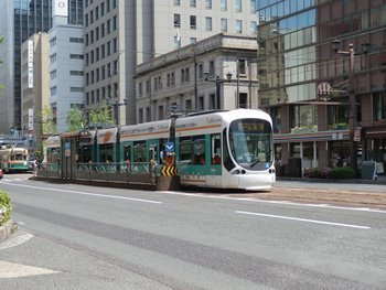 4/30 広島市内 路面電車