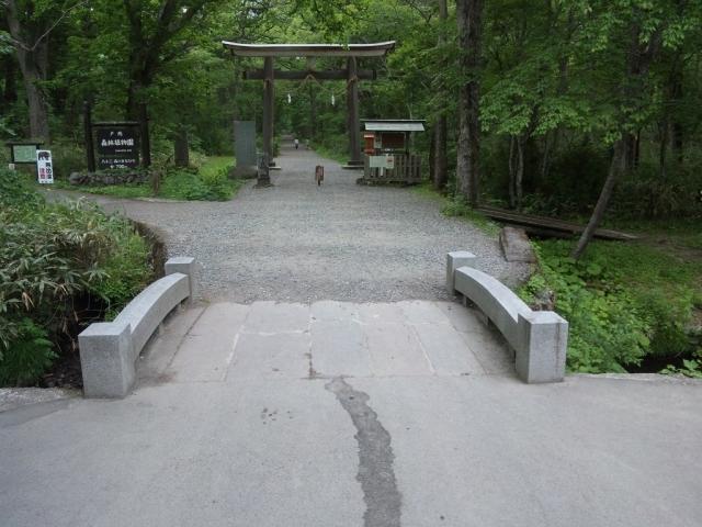 奥社の参道橋