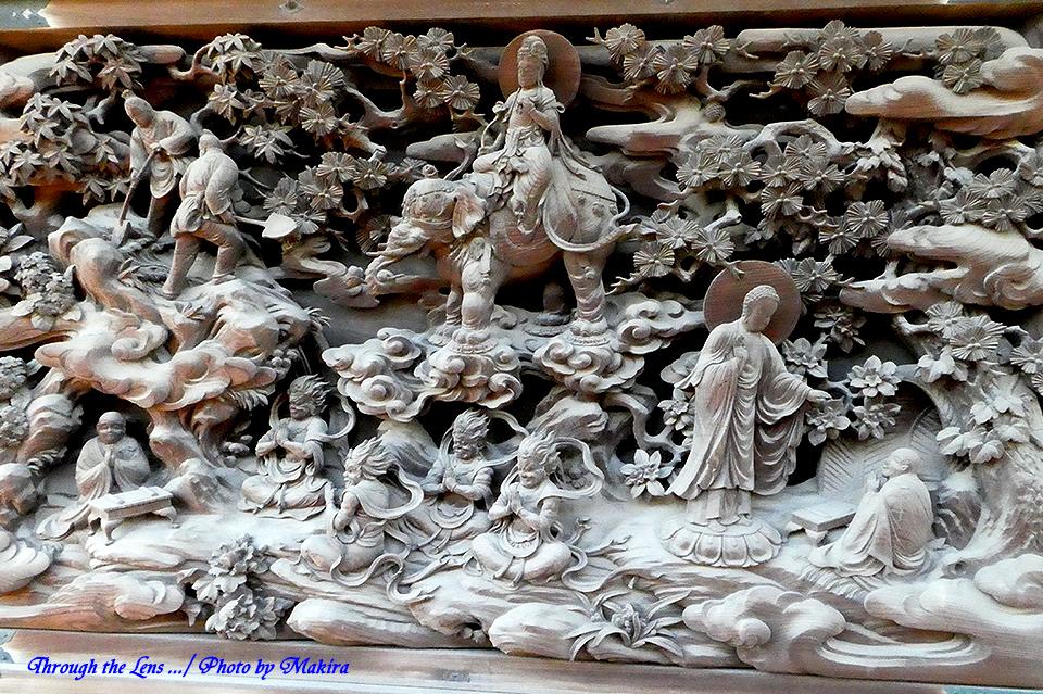 帝釈堂彫刻ギャラリー'法師修行の図'TZ1
