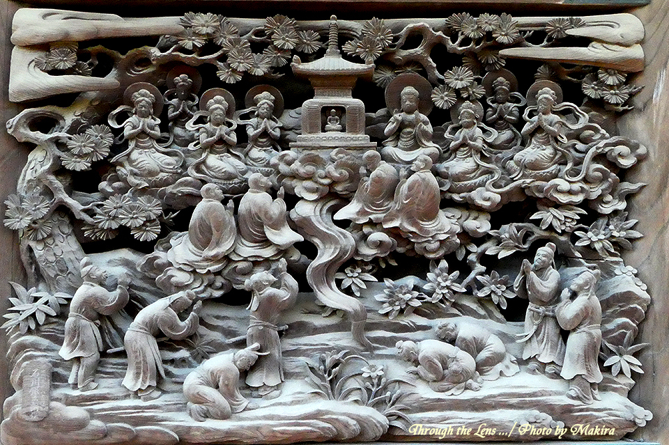 帝釈堂彫刻ギャラリー'多宝塔出現の図'TZ1