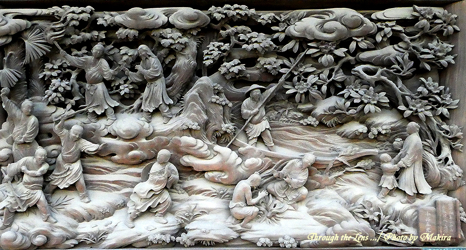 帝釈堂彫刻ギャラリー'常不軽菩薩受難の図、法華経功徳の図'TZ1
