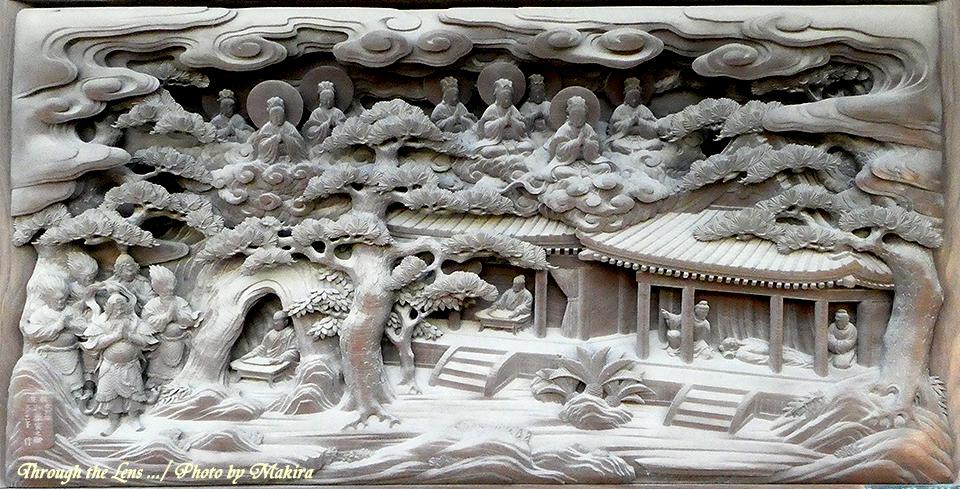 帝釈堂彫刻ギャラリー'法師守護の図'TZ1