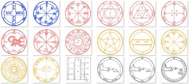 ソロモン大鍵の惑星護符全44枚カラー画像と使い方