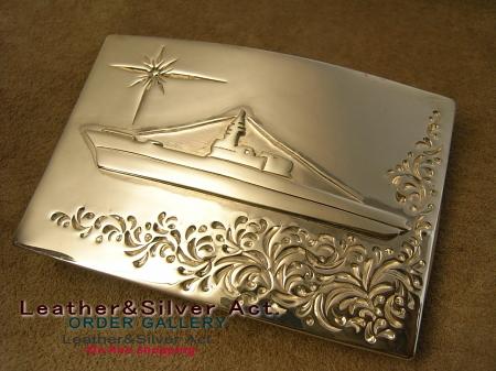 シルバーベルト バックル オーダーメイド 船 01
