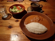 浜松町 カラバッシュ マフェ・ビーフ+サラダ+ドリンク(2017/3/3)