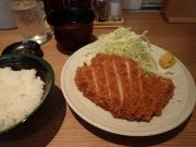 大門 むさしや 芝大門店 上ロースかつ定食(2017/3/9)