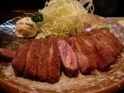 浜松町 牛かつ もと村 浜松町店 牛かつ麦飯とろろセット200g(2017/3/28)