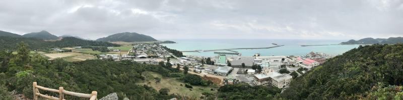 虎頭岩の上からの眺め