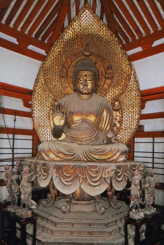 法隆寺・西円堂・薬師如来坐像