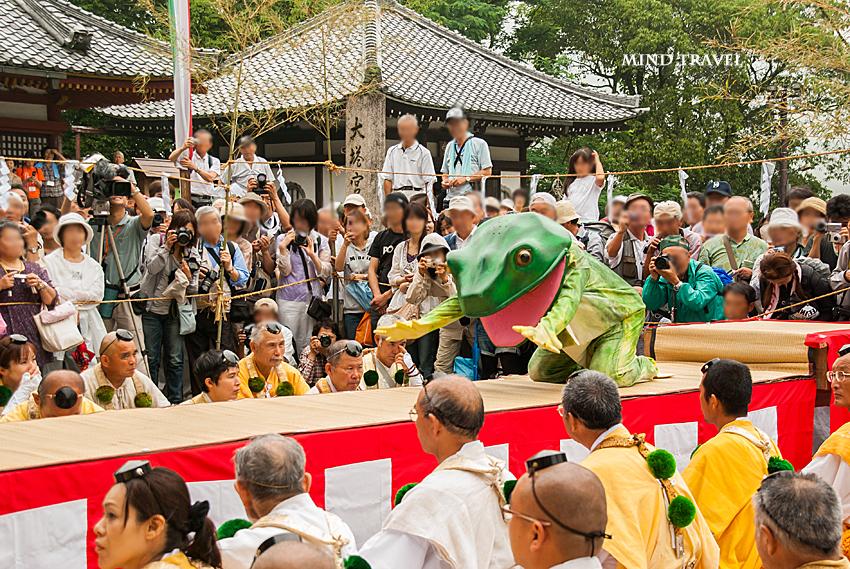 蔵王堂 蛙飛行事3
