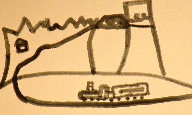 大地の絵・汽車