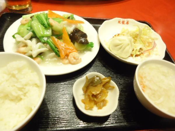 2/28 双龍居・小エビとイカの青梗菜炒め