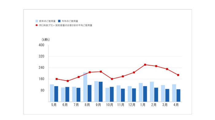 でんき家計簿 電気使用量グラフ印刷ページ[1]