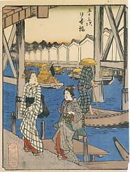 日本橋人物東海道広重