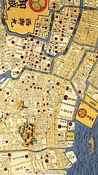 江戸地図日本橋から島津屋敷