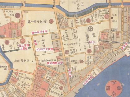 江戸地図島津屋敷a