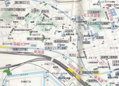 高輪付近地図