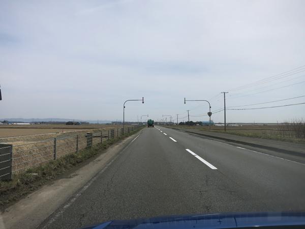 北海道 まっすぐな道 国道274号線(三川国道)