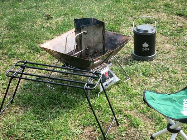ファミリーパークゴルフ追分キャンプ場 焚火ロストル