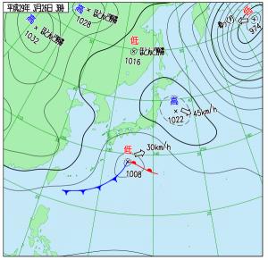3月26日(日)3時の実況天気図