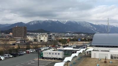 雪景色の比良山(2月18日12時頃)