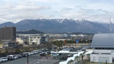 雪景色の比良山(4月1日13時40分頃)