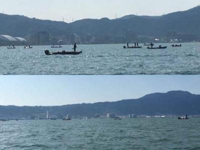 琵琶湖南湖南エリアの船団