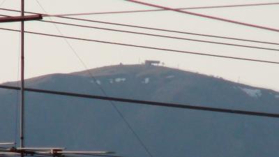 比良山の残雪(5月2日18時頃)