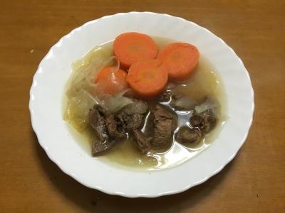 鹿スジ肉のスープ