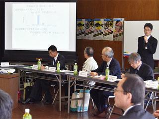 滋賀県水産会館で開かれたヒウオ不漁対策会議
