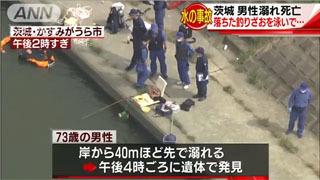 霞ケ浦で釣り人の死亡事故