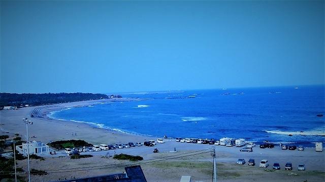 犬吠埼ホテル第2駐車場からの眺め