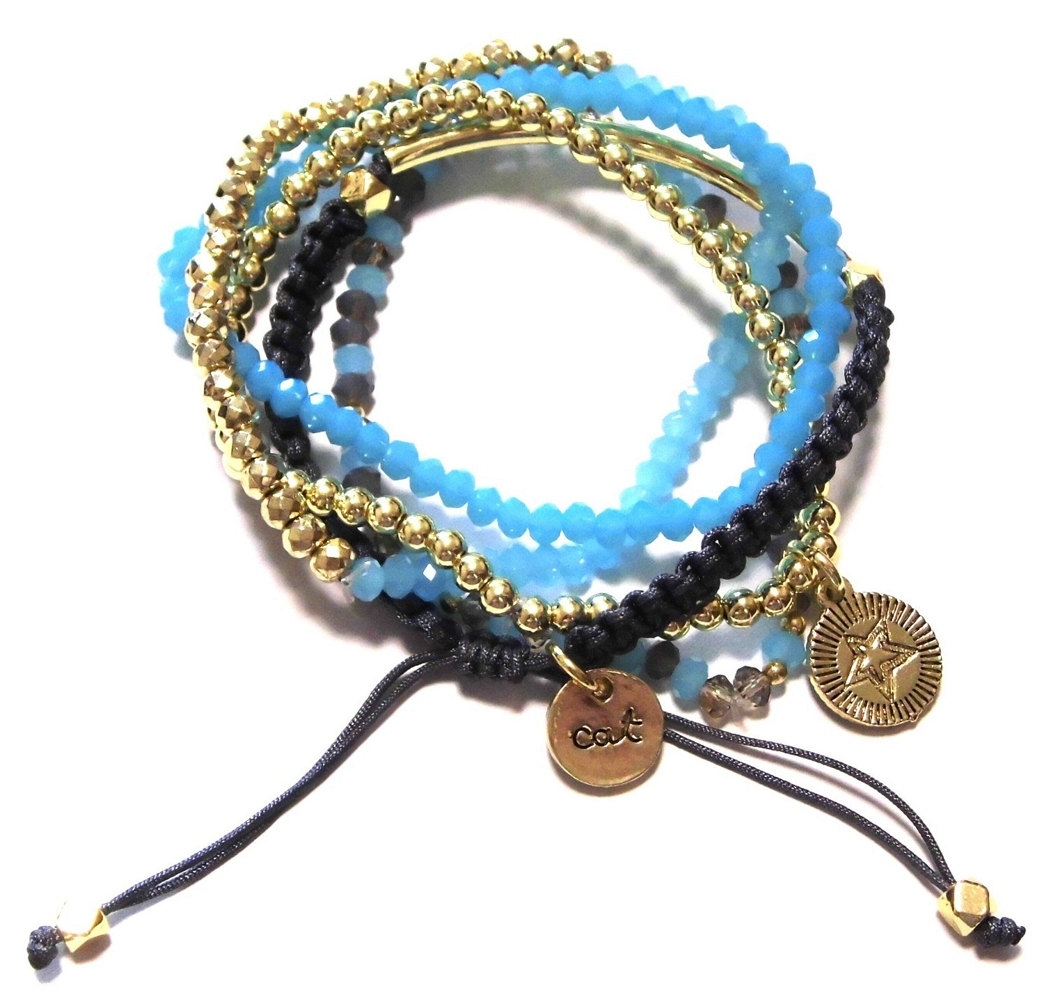 NEW SEASON - W820 Free Bracelet set aqua gold (2)