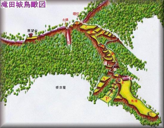 滝田城址縄張り図