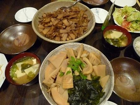 竹の子夕飯