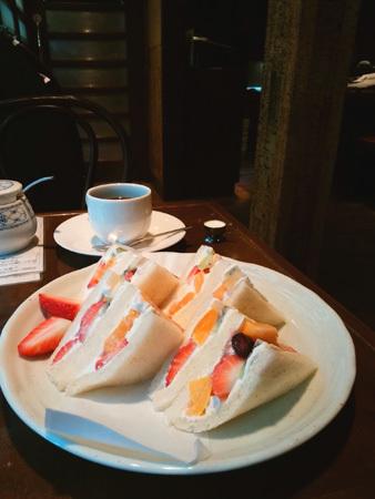 喫茶かっぱ フルーツサンドイッチ