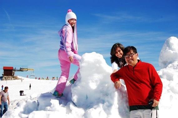 Serra das estrelas  の雪① 2017年2月 25日