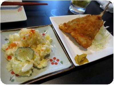ポテトサラダ・アジフライ