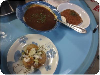 肉団子・カレー・ハムカツ