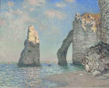 クロード-モネ-the-cliffs-at-etretat