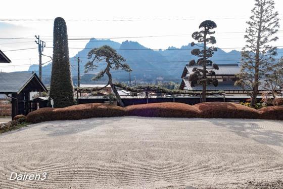 安中市五料茶屋本陣 お西 借景の妙義山