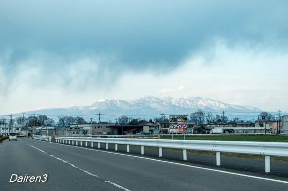 3月とは思えない冬景色の赤城山