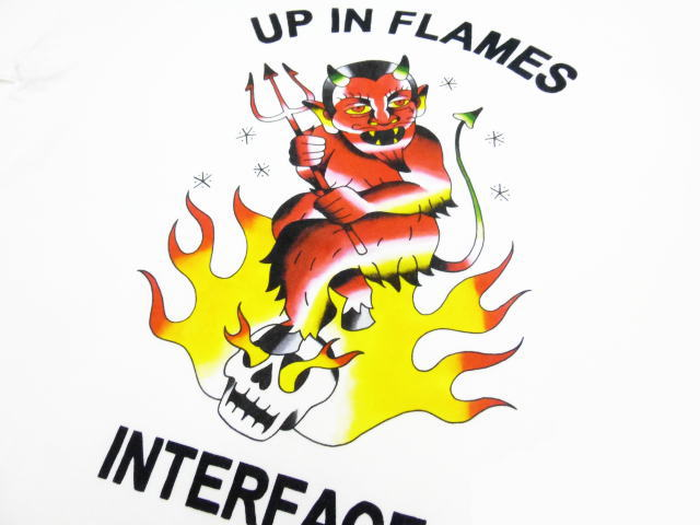 INTERFACE UP IN FLAMES TEE