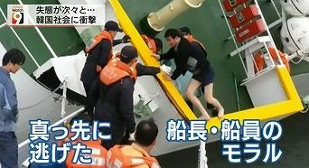 多くの乗客を残したまま、真っ先に逃げ出した船長や船員のモラル
